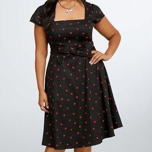 Torrid Retro Chic Lady Bug Dress Size 24